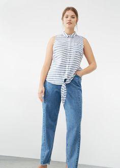 Striped bow blouse - Plus sizes c33d9206d69