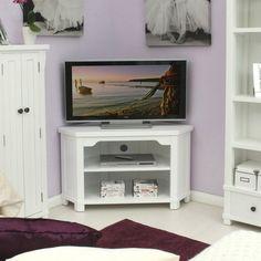 Hampton Solid Ash Corner Television Cabinet - - TV Unit - Baumhaus - Space & Shape - 1