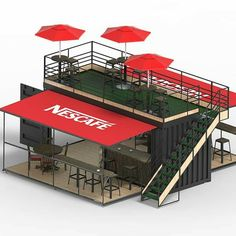 Source China suppliers Mobile Pop-Up coffee shop container design / prefabricated shipping container coffee shop on Container Home Designs, Container House Plans, 40ft Container, Container Cabin, Cargo Container, Small Coffee Shop, Coffee Shop Design, Coffee Shops, Coffee Coffee