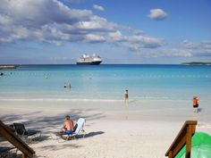 The Westerdam, that amazingly clear water and the white powder sand.....we're ready to go back now!  Half Moon Cay, Bahamas, a private island owned by Holland America cruise lines.   Go to www.YourTravelVideos.com or just click on photo for home videos and much more on sites like this.