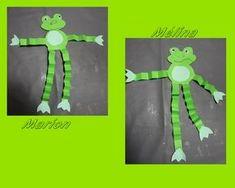 des grenouilles Plus Pond Crafts, Frog Crafts, Cute Crafts, Summer Camp Crafts, Camping Crafts, Art For Kids, Crafts For Kids, Frog Theme, Lego Girls
