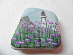 Flowers by the lighthouse Acrylic by ShePaintsSmallThings on Etsy, $20.00