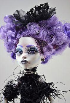 OOAK Monster High Repaint Belladonna | Flickr - Photo Sharing!