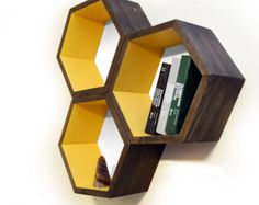 As seen in Better Homes and Gardens DIY!!!  This listing is for three individual hexagons - unfinished. Finish and arrange them in whatever way
