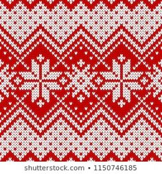 Seamless christmas and new year wool knitting pattern. Vector illustration with snowflakes. Knitting Patterns, Crochet Patterns, Winter Sweaters, Christmas And New Year, Christmas Stockings, Knit Crochet, Textiles, Illustration, Stitch