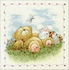 Schemi Punto Croce Orsetti Bears With Envelope Best Friends Best Friends Best Friends Best Friends Best Friends Monogram Cross Stitch, Cross Stitch Baby, Cross Stitch Animals, Cross Stitching, Cross Stitch Embroidery, Cold Porcelain Tutorial, Teddy Pictures, Friend Cartoon, Bear Graphic