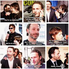 Norman Reedus & Andrew Lincoln -- Best bromance ever. I love that these guys are real life BFFs! :-)