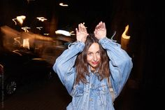young woman enjoying the night by Guille Faingold for Stocksy United Royalty Free Stock Photos, The Unit, Woman, Night, Photography, Fashion, Moda, Photograph, Fashion Styles