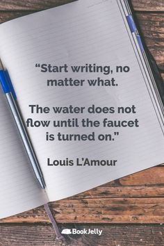 Writing Inspiration from top fiction and nonfiction authors Fiction And Nonfiction, Writing Quotes, Start Writing, Writing Inspiration, Wisdom Quotes, Authors, Writer, Words, Top