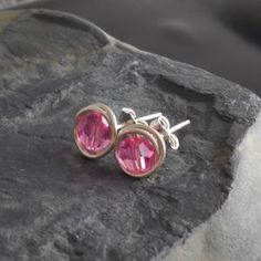 How to make a wire wrapped stud---easy!