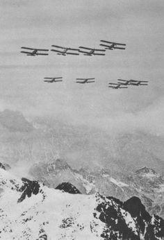 Bristol F.2 Fighter planes over the Alps