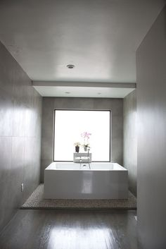 great tub with window