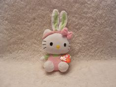 TY BEANIE BABIES HELLO KITTY WITH BUNNY EARS GREAT FOR EASTER - I have :D