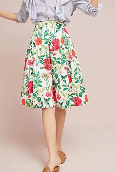 deba6a3b74 Eliza J Myrna Floral Skirt - Anthropologie [affiliate] #shopping #style # skirt