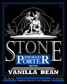 """This is a good design all around. The logo is very noticeable at the top but my eyes were drawn to the name of the brewery """"Stone.""""It uses repetition in the colors and fonts under Stone and all the elements of the design are in close proximity to one another."""