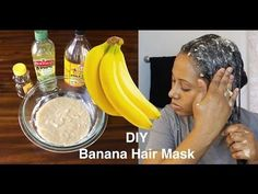 The Banana Hair Mask is very great to manage and treat damaged Hair. It is a Deep conditioner that will help with rapid hair growth. It will leave your Hair,. Pelo Natural, Natural Hair Care, Natural Hair Styles, Banana Hair Mask, Banana For Hair, Cinnamon Hair, Extreme Hair Growth, Overnight Hairstyles, Hair Mask For Growth