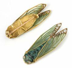 "Rene Lalique ""Cicada"" , broche. Art Nouveau, Francia. #Esmadeco."