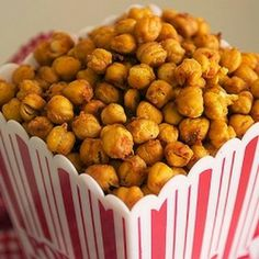 Snack food can be healthy! Recipe for Crispy*Crunchy*Roasted Chickpeas.