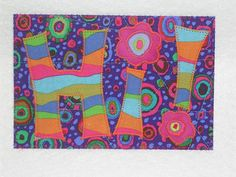 HI+Fabric+Quilted+Postcard+by+postquilts+on+Etsy,+$6.00