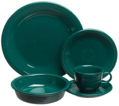 Amazon.com: Fiesta Evergreen 830 5-Piece Dinnerware Place Setting, Service for 1: Kitchen & Dining