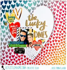 The Lucky Ones Niki Rowland Hey Little Magpie Amy Tangerine Hustle and Heart Scrapbook Pages, Scrapbook Layouts, Scrapbooking, Specialty Paper, Love Yourself First, American Crafts, Make It Work, Colored Paper, Magpie