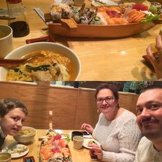 Enjoying a family dinner to start the New Year. #happynewyear #webbseatingsushi #somuchfood