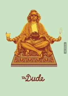 South African illustrator Bubble Gun created this awesome series of posters celebrating the Coen Brothers' brilliant cult film – The Big Lebowski. Each poster is… O Grande Lebowski, El Gran Lebowski, Jasper Johns, The Big Lebowski, Big Lebowski Poster, Dudeism, Bon Film, Movies And Series, Cult Movies