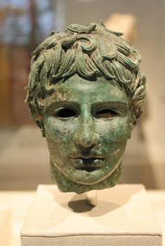 Late Hellenistic Bronze Head of a Young Man 2 nd-1st BC