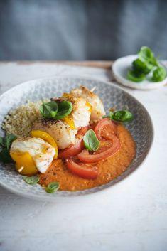 Brochettes de poisson à la sauce au poivron et millet: Recette de Sandra Bekkari