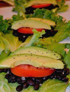 Team Slender Meatless Monday: Black Bean & Avocado Lettuce Wraps