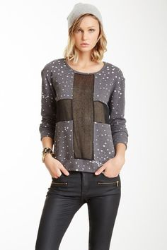 Lucca Couture - Long Sleeve Sheer Cross Pullover (25)