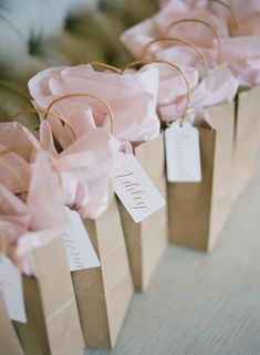 cute blush pink wedding gift bags gifts bags Pippin Hill Wedding by Jacin Fitzgerald and Lucy Cuneo - Southern Weddings Bridesmaid Gift Bags, Wedding Gift Bags, Party Gift Bags, Wedding Gifts For Guests, Creative Wedding Favors, Inexpensive Wedding Favors, Edible Wedding Favors, Unique Wedding Favors, Quirky Wedding