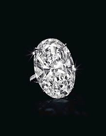 40.43-carat oval-cut D-color potentially flawless diamond ring.