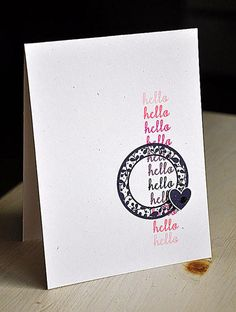 Love The Rainbow Stamped Sentiment Card By Maile Belles January 2012