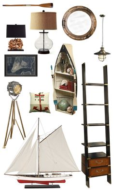 "The Distinctive Cottage | Inspiration Board: Shipshape | The Distinctive Cottage Thought I would add this to the ""Boating"" board...great home decor ideas...Nautical look..."