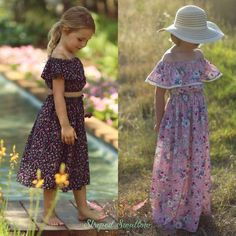 Midsummer Dream PDF Pattern from Striped Swallow Designs Sewing Projects For Kids, Sewing For Kids, Sewing Ideas, Sewing Tips, Sewing Hacks, Pdf Sewing Patterns, Clothing Patterns, Midsummer Dream, Maxi Robes