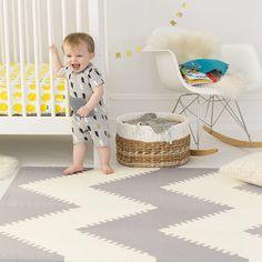 SkipHop Geo Playspot Foam Floor Tiles, Black/Cream: Amazon.ca: Baby