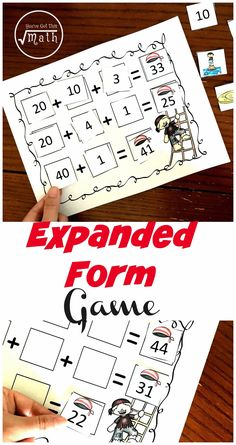 One FREE Expanded Form Game to Build Number Sense Math Activities For Kids, Literacy Games, Math Resources, Counting Activities, Expanded Form, 2nd Grade Math, Second Grade, Adding And Subtracting, Homeschool Math
