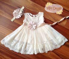 Baptism DressChristening DressBaptism Lace by MrsDazzle on Etsy
