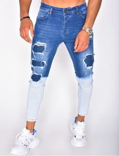 Jeans Fit, Black Ripped Jeans, Skinny Jeans, Repair Jeans, Jeans Bleu, Leather Jacket, Jacket Men, Mens Fashion, Tie