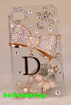 iphone case,bling bowtie iphone 4s case,dancer girl iphone 5 case cover ,rhinestone iphone cover on Etsy, $23.99