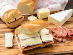 Prosciutto and Brie on Baguette Sandwich | Magnolia Days