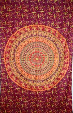 Indian Mandala Bedspread Beautiful Indian by JaipurHandloom