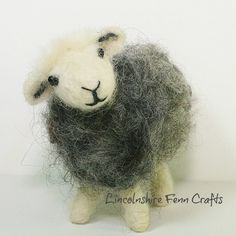 Herdwick Sheep Needle Felting Kit Felting by LincolnshireFenn