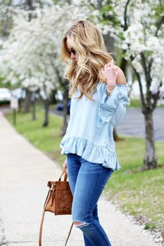 Style Cusp in the perfect chambray top :)