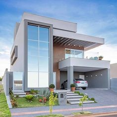 - Trend Home Design Ideen 2019 Best Modern House Design, Modern Exterior House Designs, Modern Home Interior Design, Modern Architecture House, Exterior Design, Architecture Design, Bungalow House Design, House Front Design, Home Building Design