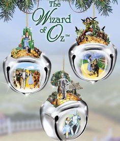 Wizard of Oz Sleigh Bells Ornaments Set