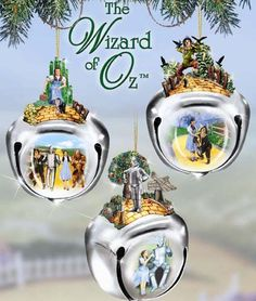 Wizard of Oz Sleigh Bells Ornaments Set