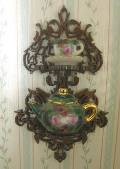 Cynthia Howe Miniatures... One of the best miniature shops I have ever seen for laser cutting and reasonably priced teapot shelf only $14.00 and beautiful furniture