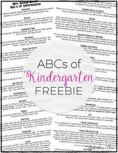 This EDITABLE  list of things from A-Z is perfect to tell parents all about your classroom! It's a must-have for sure for back to school time!
